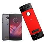 Ficha técnica e caractérísticas do produto Smartphone Motorola Moto Z2 Play GamePad Edition Platinum 64GB, Tela 5.5'', Dual Chip, Câmera 12MP, Android 7.1, Processador Octa-Core e 4GB de RAM