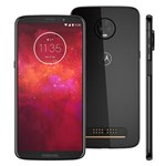 """Ficha técnica e caractérísticas do produto Smartphone Motorola Moto Z3 Play Ônix 128GB, Tela Max Vision de 6"""", Dual Chip, Câmera Traseira Dupla, Android 8.1, Processador Octa-Core e 6GB de RAM"""