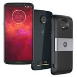 Ficha técnica e caractérísticas do produto Smartphone Motorola Moto Z3 Play Power & DTV Índigo 64GB, Tela 6'', Dual Chip, Câmera Traseira Dupla, Android 8.1, Processador Octa-Core e 4GB de RAM
