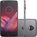 "Smartphone Motorola Moto Z2 Play - Sound Edition Dual Chip Android 7.1.1 Nougat Tela 5,5"" Octa-Core 2.2 GHz 64GB 4G Câmera 12MP - Platinum"