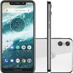 "Ficha técnica e caractérísticas do produto Smartphone Motorola One 64GB Dual Chip Android Oreo 8.1 Tela 5.9"" 2.0 GHz Octa-Core Qualcomm 4G Câmera 13 + 2MP (Dual Traseira) - Branco"