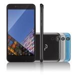 Smartphone Multilaser MS55 Colors Preto Tela 5,5 Polegadas Câmera 5.0 MP+8.0MP 3G Quad Core 8GB + 1