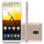 "Ficha técnica e caractérísticas do produto Smartphone Multilaser MS80 3GB RAM + 32GB Tela 5,7"" HD+ Android 7.1 Qualcomm Dual Câmera 20MP+8MP Dourado - NB723"