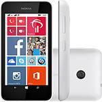 """Smartphone Nokia Lumia 530 Desbloqueado Windows Phone 8.1 Tela 4"""" 4GB 3G Wi-Fi Câmera 5MP GPS - Branco + Capa Laranja"""