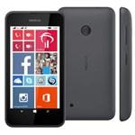 """Smartphone Nokia Lumia 530 Dual Preto com Windows Phone 8.1, Tela de 4"""", Câm. 5MP, 3G, WiFi, Bluetooth, A-GPS e Processador Quad Core - Claro"""