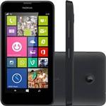 """Smartphone Nokia Lumia 630 Desbloqueado Claro Windows Phone Tela 4.5"""" 8GB 3G Wi-Fi Câmera 5MP GPS - Preto"""