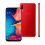 "Smartphone Samsung Galaxy A20, Vermelho, A205G, 6,4"", 32GB, 13MP+5MP"