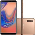 Smartphone Samsung Galaxy A7 128Gb Dual Android 8.0 Tela 6' Octa-Core 2.2Ghz 4G Câmera Tripla, Cobre