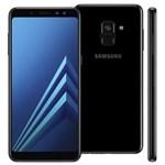 """Ficha técnica e caractérísticas do produto Smartphone Samsung Galaxy A8 Dual Chip, Android 7.1, Câmera 16MP, Proteção IP68, Processador Octa Core e RAM de 4GB, 64GB, Preto, Tela 5,6"""""""