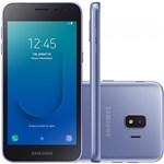 "Smartphone Samsung Galaxy J2 Core 16GB Dual Chip Tela 5"" Câmera 8MP 5MP Android Go 8.1 Prata"