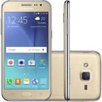 Ficha técnica e caractérísticas do produto Smartphone Samsung Galaxy J2 J200 Tela 4.7 8GB - Dourado