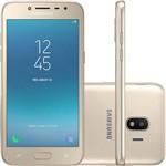 """Smartphone Samsung Galaxy J2 Pro Dual Chip Android 7.1 Tela 5"""" Quad-Core 1.4GHz 16GB 4G Câmera 8MP - Dourado"""