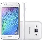 "Smartphone Samsung Galaxy J1 Duos Dual Chip Desbloqueado Tim Android 4.4 Tela 4.3"" 4GB 4G Wi-Fi Câmera 5MP - Branco"