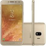"""Ficha técnica e caractérísticas do produto Smartphone Samsung Galaxy J4 16GB, Tela 5.5"""", Dual Chip, 4G, Câmera 13MP, Android 8.0, Processador Quad Core e RAM de 2GB - Dourado"""