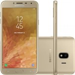 """Ficha técnica e caractérísticas do produto Smartphone Samsung Galaxy J4 Dourado 32GB Tela de 5.5"""" Dual Chip Câmera de 13 MP"""