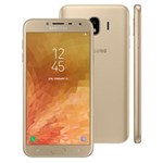 """Ficha técnica e caractérísticas do produto Smartphone Samsung Galaxy J4 Dual Chip, 4G, Câmera 13MP, Android 8.0, Processador Quad Core e RAM de 2GB, 32GB, Dourado, Tela 5.5"""""""