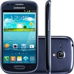 "Smartphone Samsung Galaxy S III Mini Desbloqueado Vivo Android Tela 4"" 8GB 3G Wi-Fi Câmera 5MP - Azul"