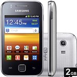 Smartphone Samsung Galaxy Y TV Desbloqueado Claro S5367 Prata - GSM, Câmera 3.2MP, Touchscreen, 3G, Wi-Fi, Memória Interna 180MB, Cartão de Memória 2GB