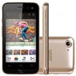 """Smartphone Yezz 400e Android 6.0, 2chips, Tela 4"""", Quadcore 1.2ghz, 4gb, Wi-Fi, Câm 5mp Dourado"""