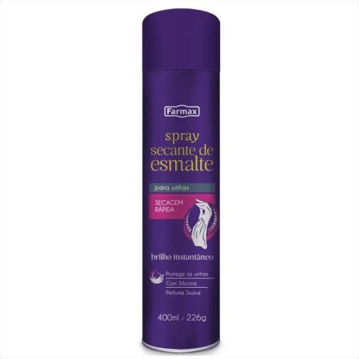 Ficha técnica e caractérísticas do produto Spray Farmax Secante Esmalte 400ml