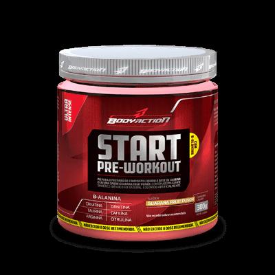 Ficha técnica e caractérísticas do produto Start Pré Workout - Body Action (300G, MELANCIA)