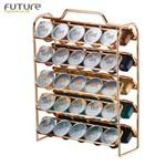 Ficha técnica e caractérísticas do produto Suporte Porta 50 Cápsulas Café Nespresso Rosé Gold - 1147rg Future