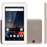"Ficha técnica e caractérísticas do produto Tablet Multilaser M7S Plus NB276 7"" Quadcore 8GB 1GB RAM Câm 2MP + Frontal 1.3MP Cor Dourado"