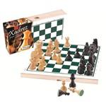 Ficha técnica e caractérísticas do produto Tabuleiro de Xadrez com Peças em Madeira 60032 - Xalingo
