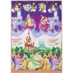 Ficha técnica e caractérísticas do produto Tapete Disney Princesas 120x180cm - Jolitex
