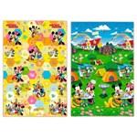 Tapete Infantil Dupla Face Recreio Disney Trip Mickey Jolitex 120cmx180cm Colorido
