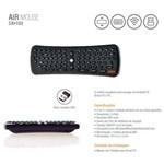 Teclado Oex Air Mouse P/ Smart Tv - Preto