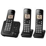 Telefone Panasonic Tgc363 Sem Fio- 3 Aparelhos- Bina- Atendedor de Chamadas - Pr