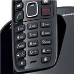 Telefone S/ Fio DECT 6.0 C/ Identificador de Chamadas, Display e Teclado Iluminados, Função Alarme EAgenda P/ Até 80 Contatos - A390 Preto - Siemens Gigaset