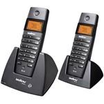 Telefone S/ Fio DECT 6.0 C/ Identificador de Chamadas, Viva-Voz e Display Iluminado+ Ramal S/ Fio C/ Identificador de Ch...