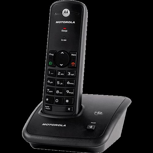 Telefone S/ Fio Fox 500 DECT 6.0 C/ Rediscagem e PAGE - Motorola