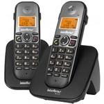 Telefone Sem Fio + 1 Ramal TS5122 Preto 4125122 Intelbras
