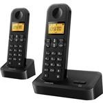 Telefone Sem Fio com Ramal Philips Preto D1502B/BR com Identificador de Chamadas