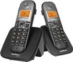 Ficha técnica e caractérísticas do produto Telefone Sem Fio com Ramal Ts 5122 Preto Intelbras - 23913