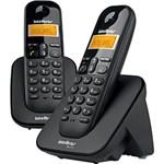 Ficha técnica e caractérísticas do produto Telefone Sem Fio Intelbras + 1 Ramal TS 3112 Preto