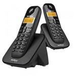 Ficha técnica e caractérísticas do produto Telefone Sem Fio Intelbras TS 3112 + 1 Ramal Preto