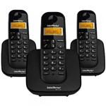 Ficha técnica e caractérísticas do produto Telefone Sem Fio Intelbras TS 3113 + 2 Ramal Preto
