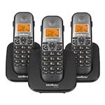 Ficha técnica e caractérísticas do produto Telefone Sem Fio Intelbras TS 5123 com Ramal Preto