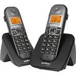 Ficha técnica e caractérísticas do produto Telefone Sem Fio Intelbras TS 5122 com Ramal Preto