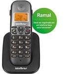 Ficha técnica e caractérísticas do produto Telefone Sem Fio Intelbras TS 5121 Ramal Preto