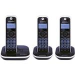Telefone Sem Fio Motorola Dect Gate 4500 MRD3 com Identificador de Chamadas e 2 Ramais Preto e Prata