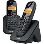 Ficha técnica e caractérísticas do produto Telefone Sem Fio Ts3112 com Id e 1 Ramal Preto Intelbras