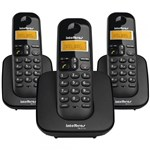 Telefone Sem Fio TS3113 + 2 Ramais Adicionais com Identificador de Chamadas - Intelbras