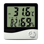 Ficha técnica e caractérísticas do produto Termo Higrometro Digital com Maxima e Minima Medidor de Temperatura e Umidade com Relogio e Alarme I - Incoterm