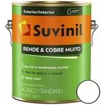 Ficha técnica e caractérísticas do produto Tinta Acrílica Rende & Cobre Muito Fosco - 3.6 Litros - Branco - 50308370
