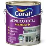 Ficha técnica e caractérísticas do produto Tinta Acrílico Total Fosco Premium Branco 3,6L Coral